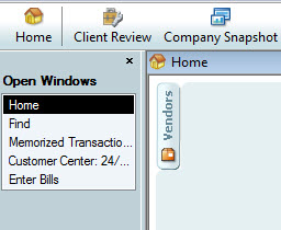 QuickBooks Open Windows List