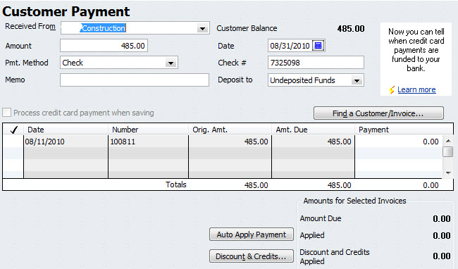 QuickBooks Invoice Date Computer Tutor Training - What does a quickbooks invoice look like